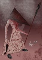 Pyramid Head with spear by Mqrcel