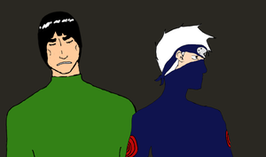 Gai and Kakashi by Chi-chi-Z