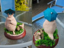 Totoro Sculpt WiP - Full View by Ghibli-Guy