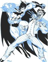 Batman vs Joker by billmeiggs