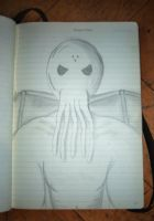 Cthulhu - Pencil by uuuuuargh