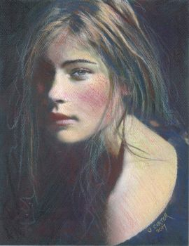 Grace - Pastel on Paper by WordellCarter