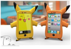 pikachu iphone case by luwe2009