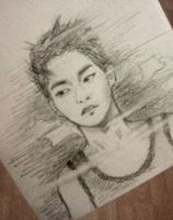 xiumin sketch by ClineSan