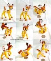 Pipecleaner Doll: Bambi by GreyscaleRainbowXx