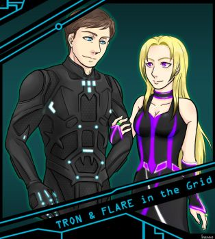 TRON and FLARE in the Grid by ka-na-o