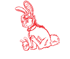 Easter Bunneh Sketch by Super-Chey