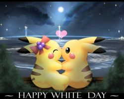 Happy White day pikachus by xMarisa-Fanx