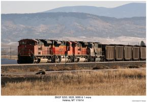 BNSF 9293, 9026, 9089 + 1 more by hunter1828