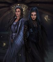 Lady of the Lake and Queen Mab by cyberaeon