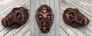 Dragon Priest Mask - Cold Cast Copper by Thomasotom