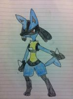 Lucario with a dodgy face! by Nutmeg777