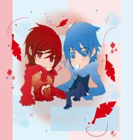 Vocaloid : Meiko and Kaito by KickBass77