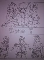 Naruto - Team 7 Sketch by asha0
