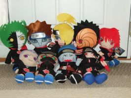 My Akatsuki Plush Collection by Itachislilgirl