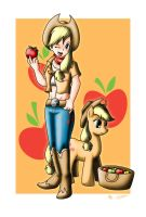 Human Applejack by Evil-Rick