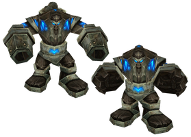 WoW Iron Golem Cut Out by atagene