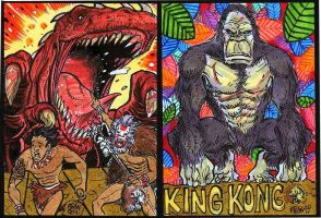 2011 5Finity King Kong Sketch Cards 3 by fbwash
