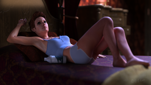 Girl on bed by Zethara