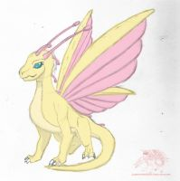 Draconified Fluttershy by Silverthe-Dragon