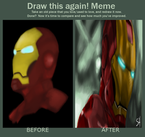 Iron Man before and after meme. by AStolenRelic