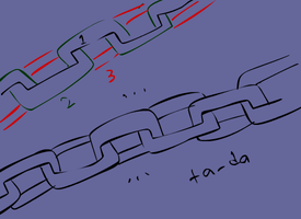 how to draw chains in 3 easy steps by parangsakti
