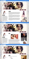Lana Del Rey web design by HONNUH