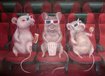 Cinemice by CameronHarperArt