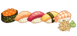 Sushi icons by Kiyorin