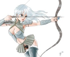 Elven Archer by elpipes