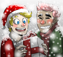 SpongeBob and Patrick Christmas Pic~!!! by NEOmi-triX