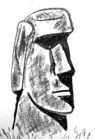 Easter Island head by NeroUrsus