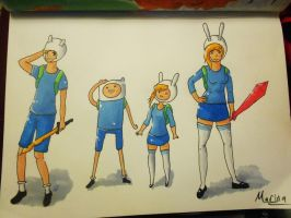 Finn and Fionna bbys by BlumberBerrry