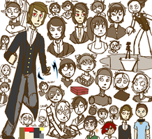Housemates R5 Sketches by EdgeGurl77