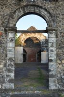 Gate and interior of ruined church by A1Z2E3R