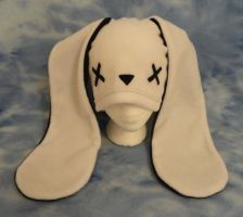 White Zombie Bunny Hat by HatcoreHats