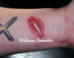 Lip Prints - Bill Lemaster by SmilinPirateTattoo