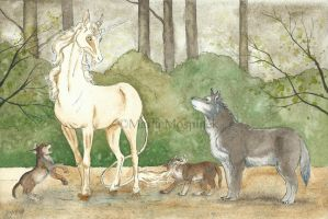 Wolf cubs by Mospineq
