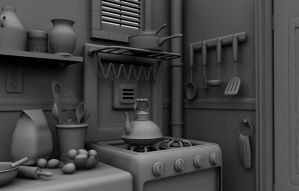 Kitchen C4D by ALBITAR