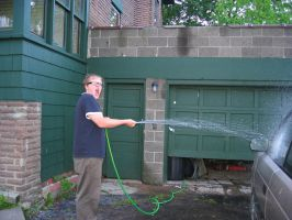 Funny Man with Hose by ahtibat-stock