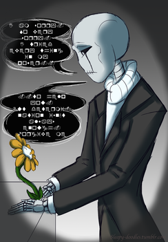 Flowey and Gaster by Castagon