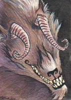 Sebastian's Monster ACEO by tencrowns-studio