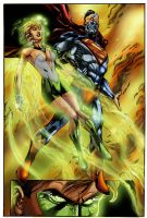 Green Lantern  Cyborg Superman by psychoheat
