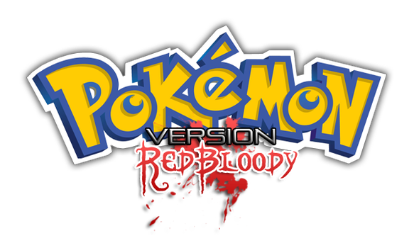 Pokemon Red Bloody Logo by Said971