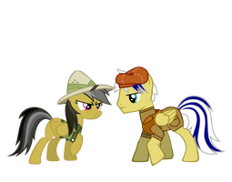 Daring Do and Penn Sharp by RyouXIII