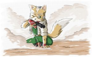 Fox McCloud - mission complete by chibi-usuratonkachi