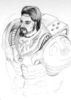 Space Marine Sketch by orcbruto