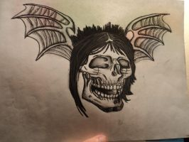 My REV Deathbat Drawing by The-Bomb-Dot-Com