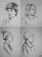 Portraits made in class by stephii-01