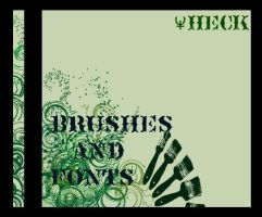CD3- Brushes and fonts by Theck
